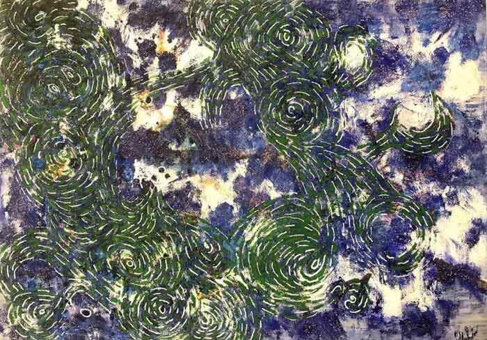Sky abstract oil on canvas by Svitlana Sherstiuk