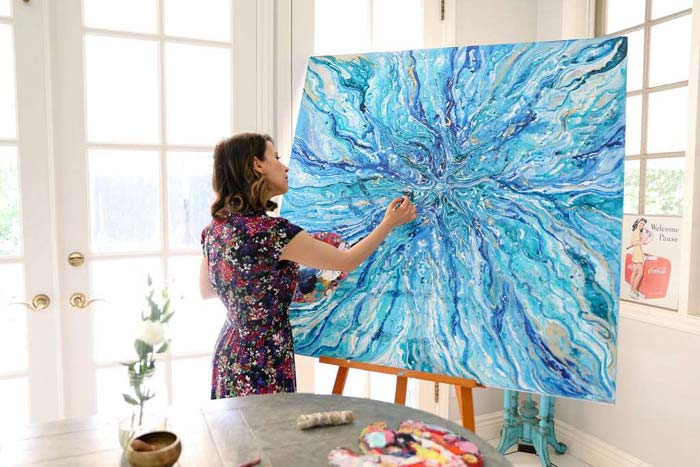Big Canvas Abstract Art by Sheryl Benjy