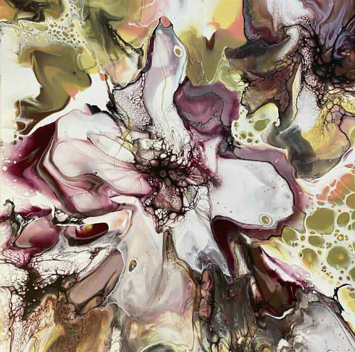 Stunning fluid painting by Lesley Nilsson