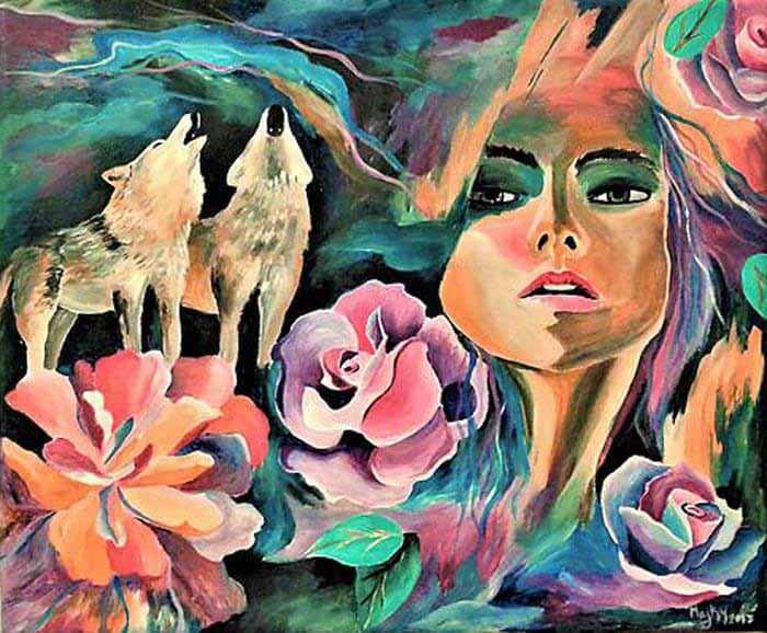 Stunning portrait artwork by Marianna