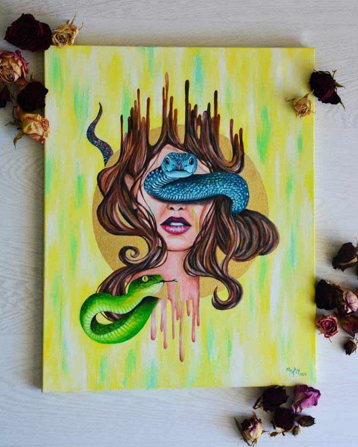 Temptation Acrylic on canvas by Marianna