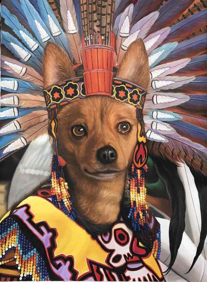 The Mayan Queen oil on canvas by Colm