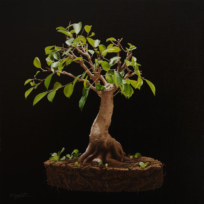 Greasy tree realim oil painting