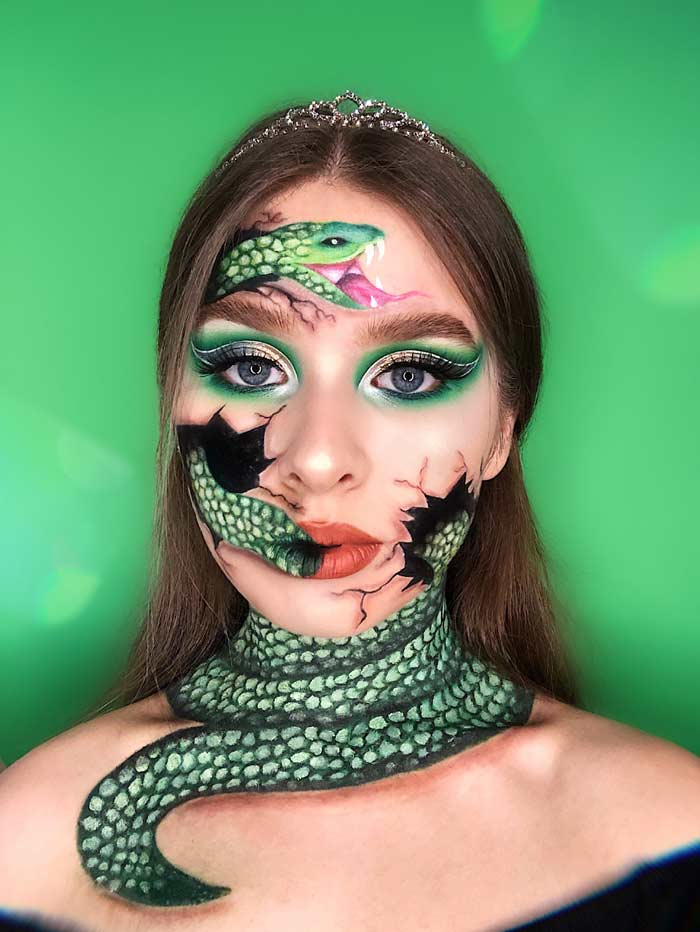 Old makeup with snake by Natalia