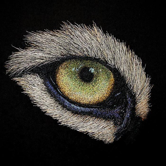 Siberian Tiger eye wildlife art