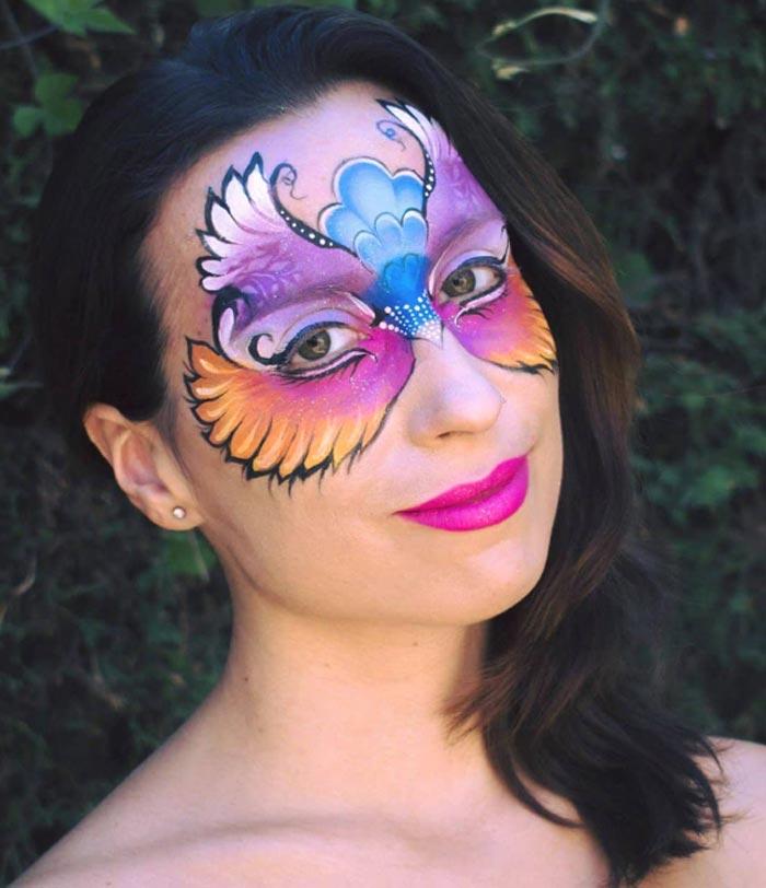 Bird Mask Face Paint by Marta Ortega