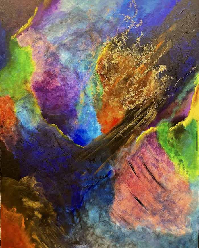 Abstract paintings by Sal Ponce Enrile