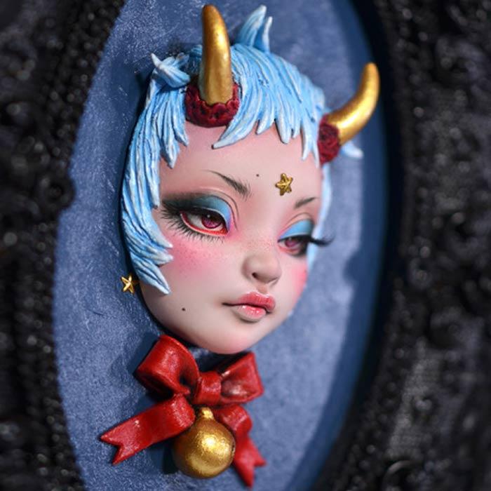 Cute demon doll art by Xhanthi