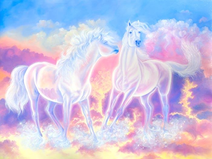 Dreams horse dancing painting by Safa Qureshi