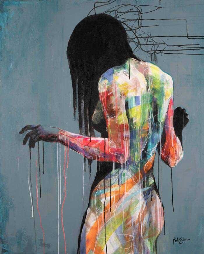 Emotional portrait painting