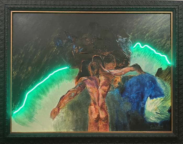 Figure abstract art by Sal Ponce Enrile