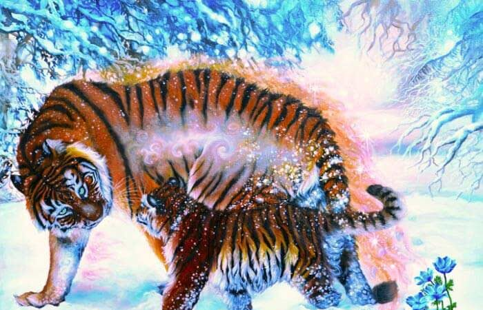 Painting of animals by Safa Qureshi