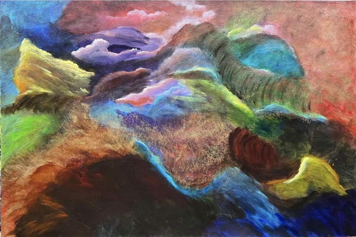 Acrylic abstract art by Sal Ponce Enrile