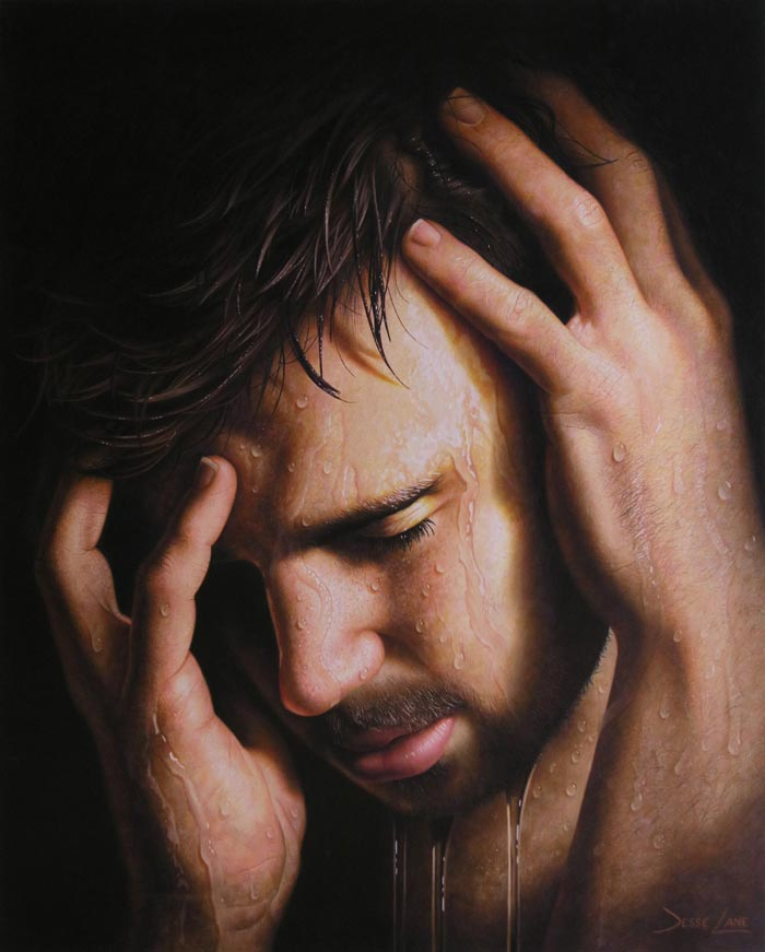 Hyper realistic painting by Jesse Lane