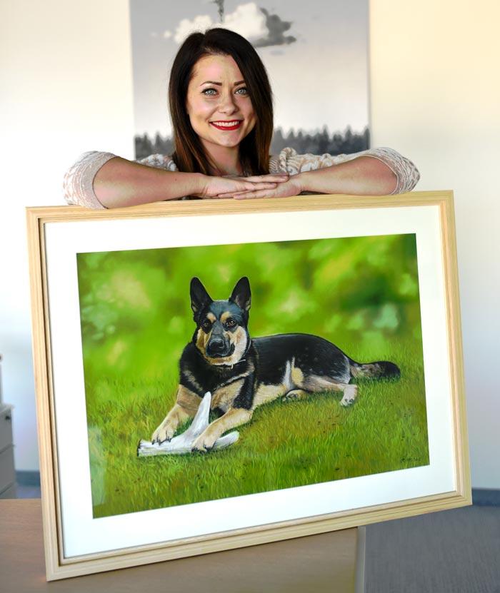 Kerli draw realistic portrait