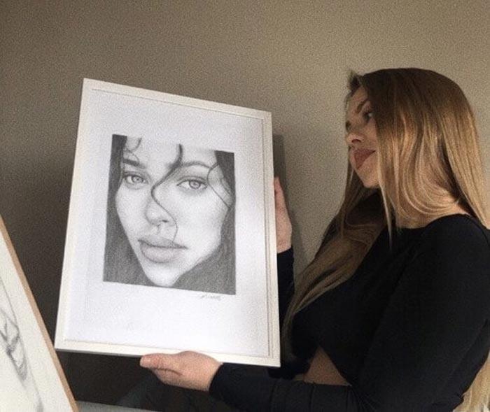 Portrait drawings by Lotte Philip