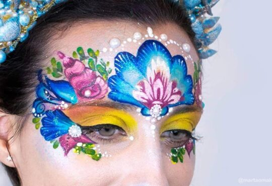 Mermaid princess face paint by Marta Ortega