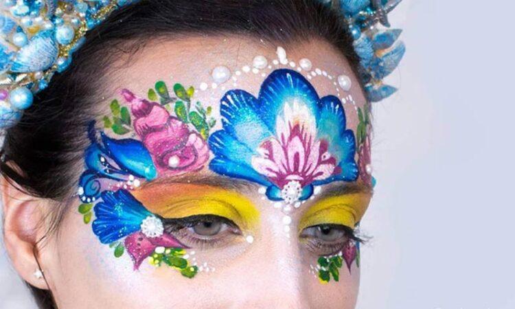 Mermaid princess face paint by Marta Ortega