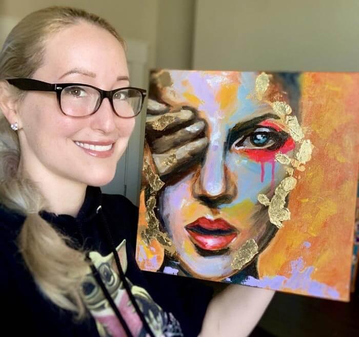 Expressive Acrylic Painter