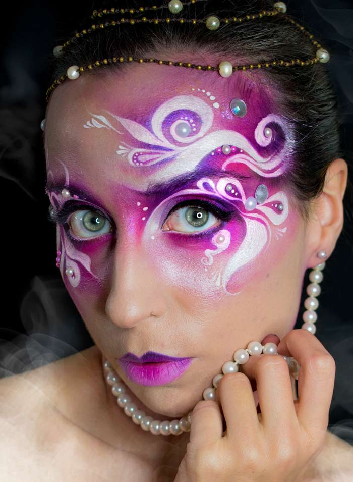 Pretty face paint designs by Marta Ortega