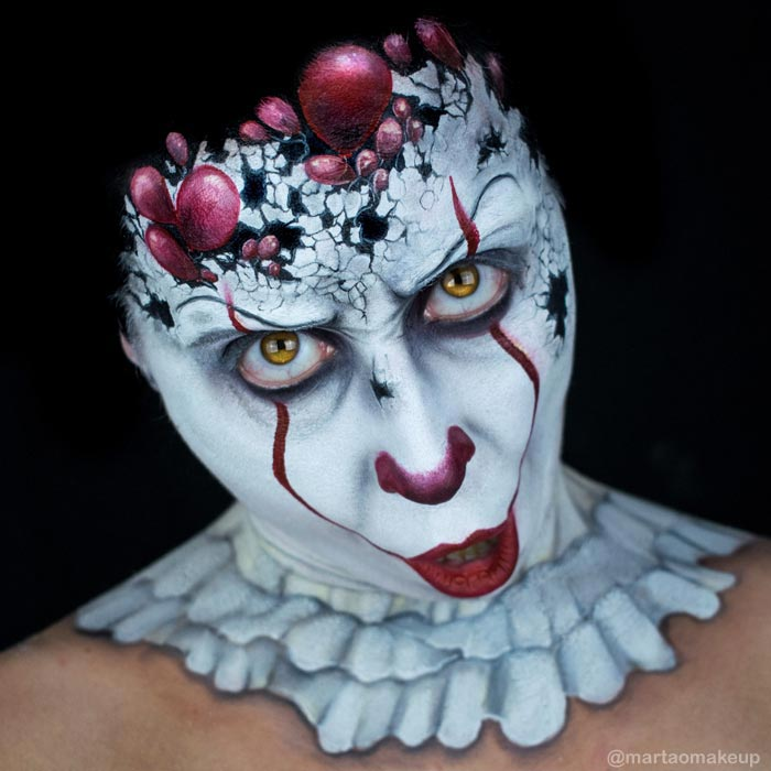 Scary face painting by Marta Ortega