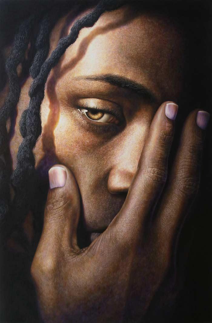 Witness hyper realistic portrait by Jesse Lane
