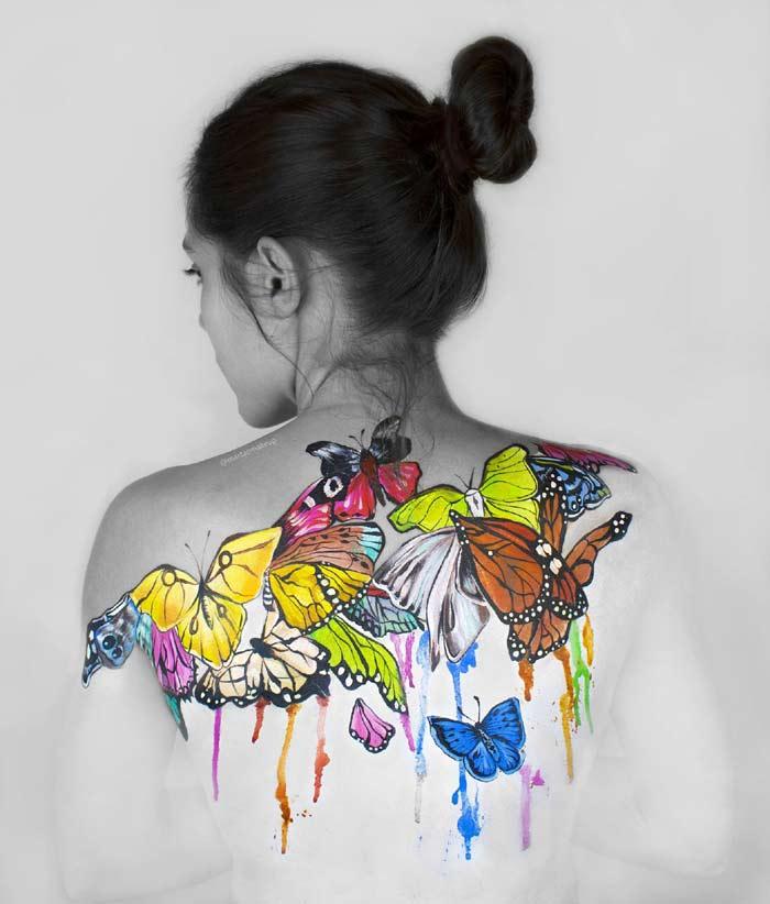 Amazing Body paint by Marta Ortega