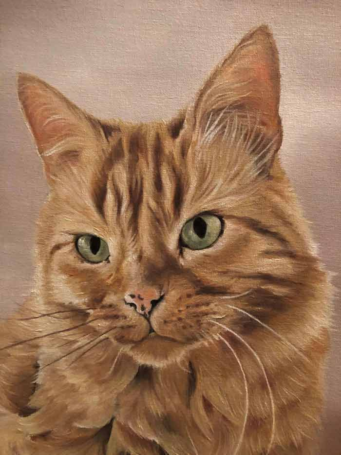Cat painting by Lotte Philip
