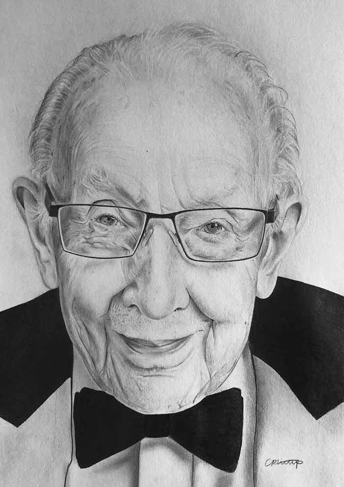 Draw realistic portrait by Lotte Philip