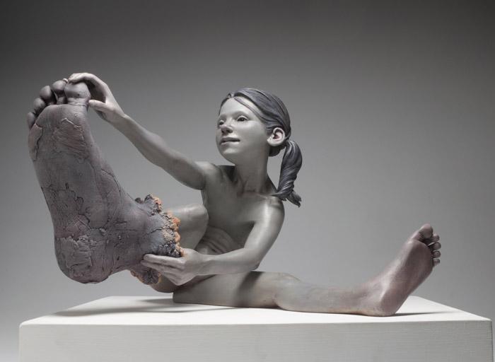 Big foot dress-up sculpture by Jesse Thompson