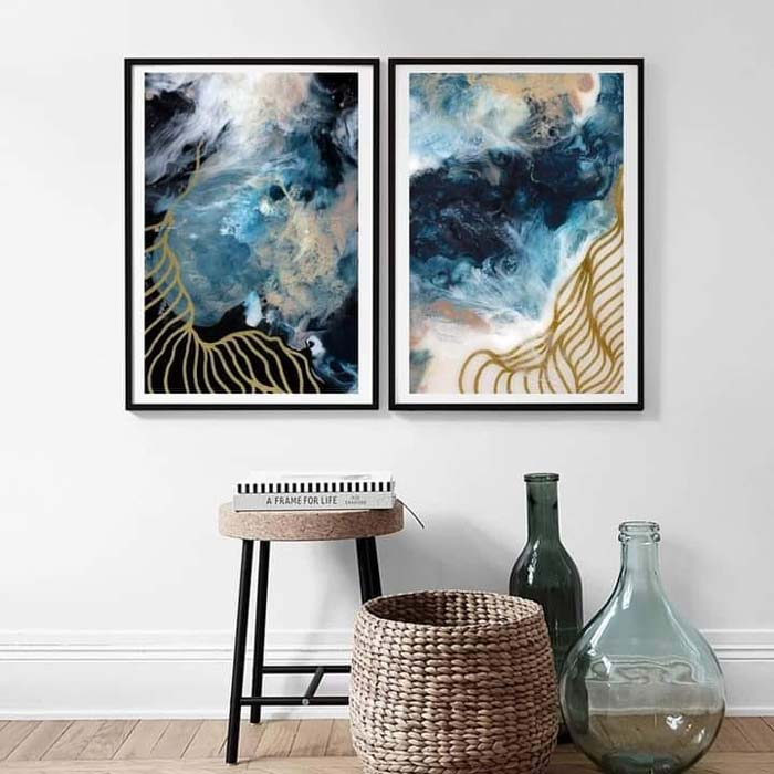 fluid abstract painting on canvas
