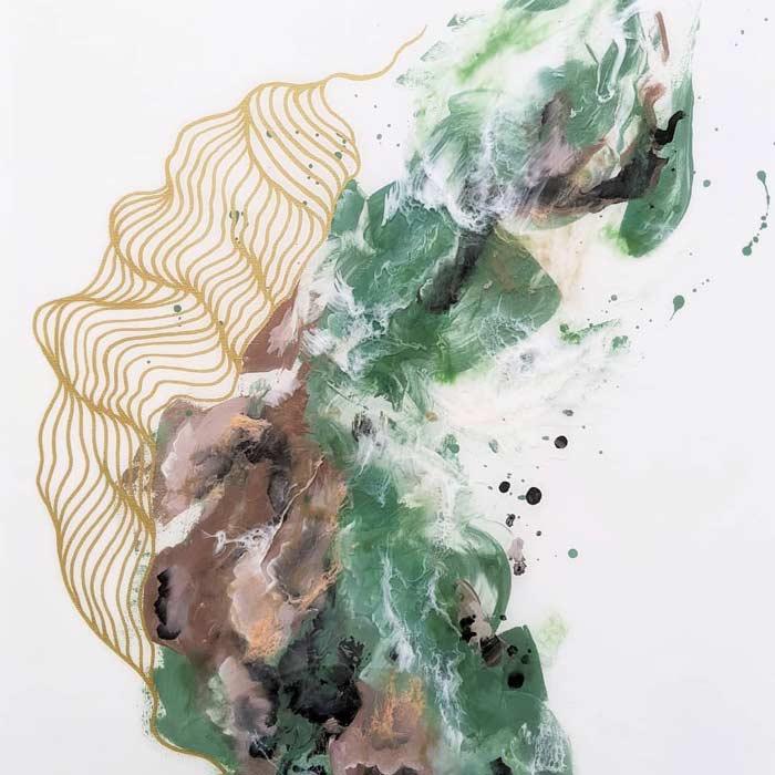 abstract fluid acrylic painting ideas