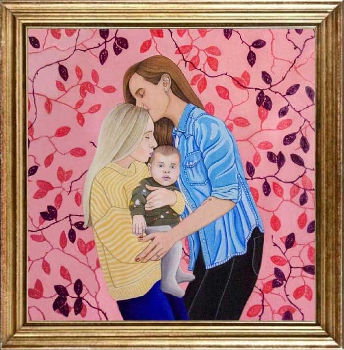Family painting by Krystof Novotny