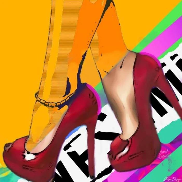 Neo Pop Art Behind a heel