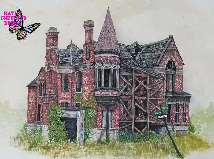 Old house painting by Kathy Grillo