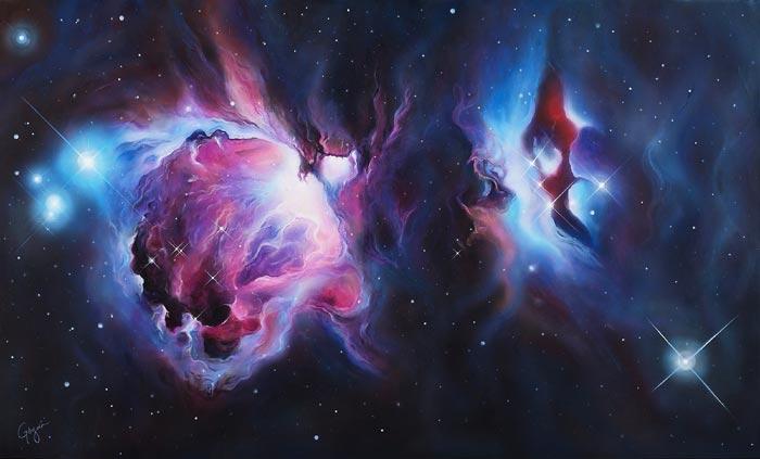 Orion Nebula Wall Art by Pilar Gogar