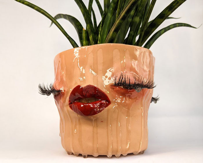 Face planters pots by Tender Flesh