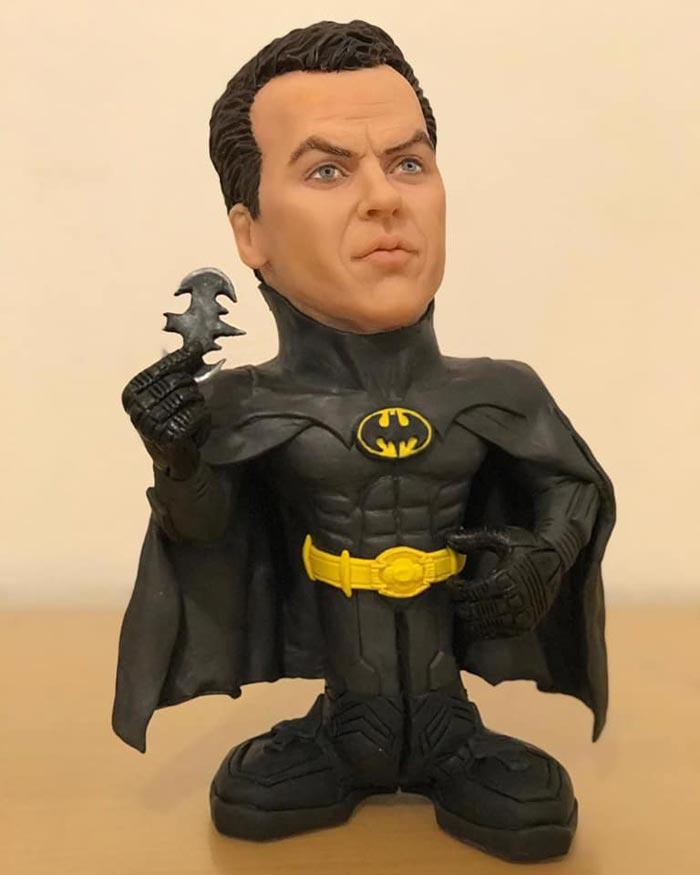 Sculpture caricature figurines Batman