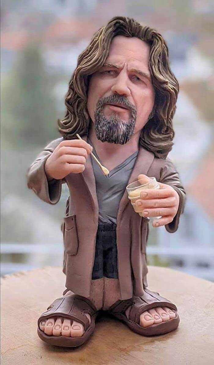 sculpture caricature figurines Big Lebowski