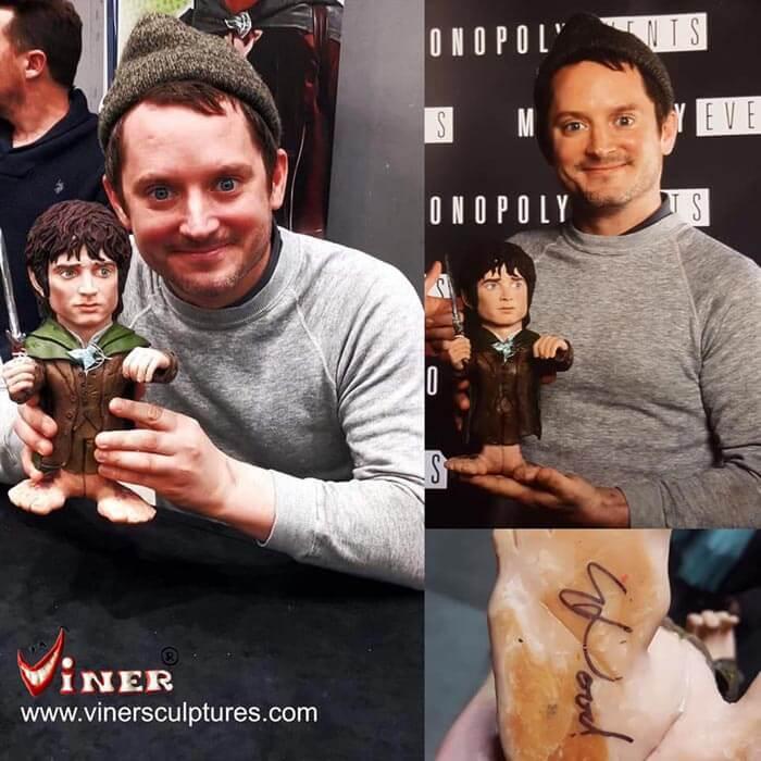 Sculpture caricature figurines Elijah Wood