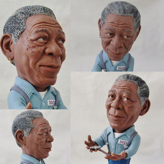 Sculpture caricature Freeman Morgan