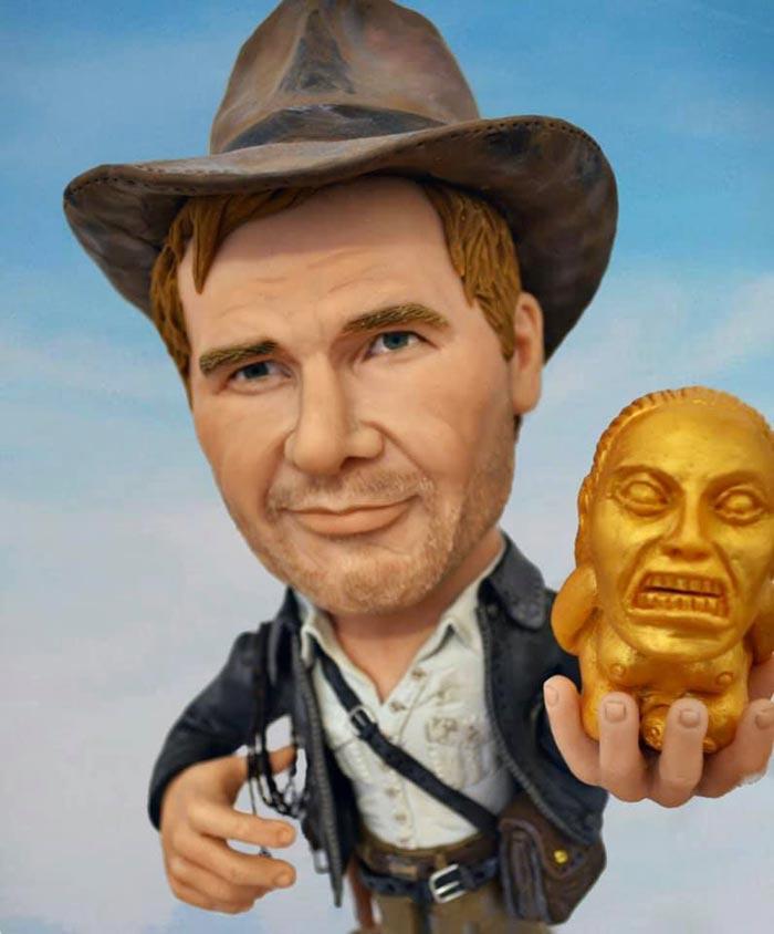sculpture caricature figurines Indiana Jones