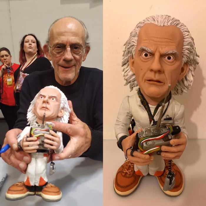 Sculpture caricature Mr christopher lloyd