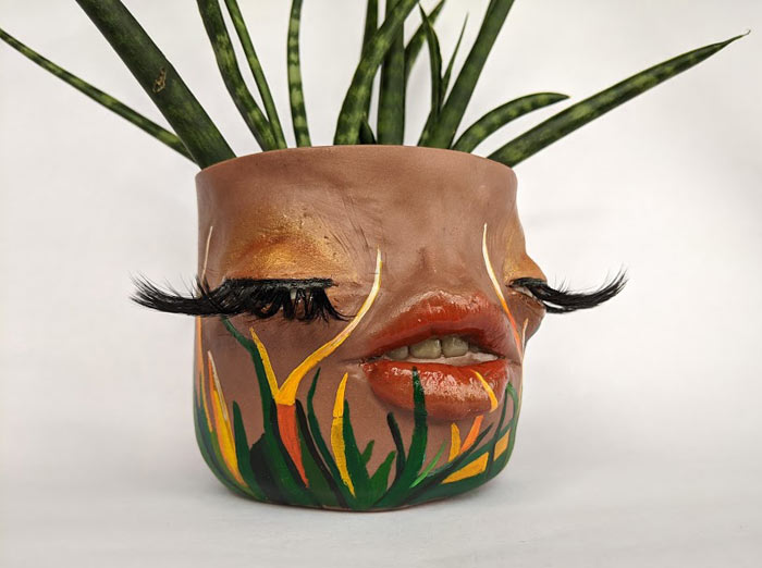 unique pots made with clay by Tender Flesh