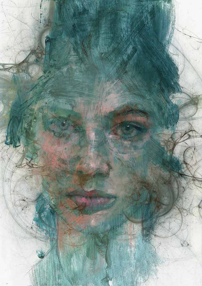 Abstract portrait Genius by Michele Petrelli