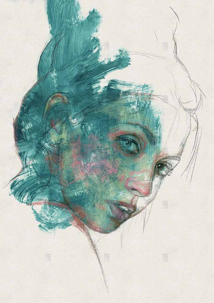 Abstract portrait elisa by Michele Petrelli