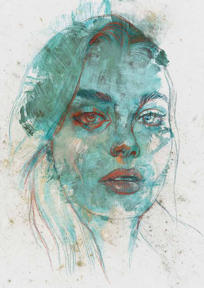 Abstract portrait lola by Michele Petrelli