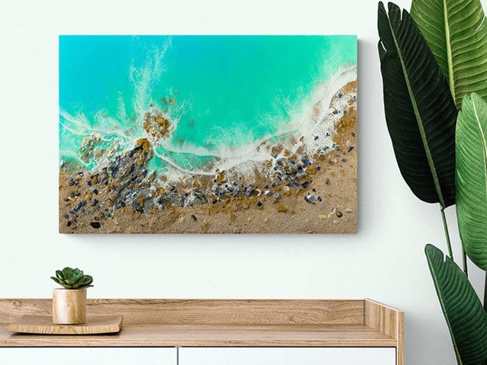 Beach Art Ocean Resin