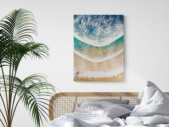 ocean resin artwork