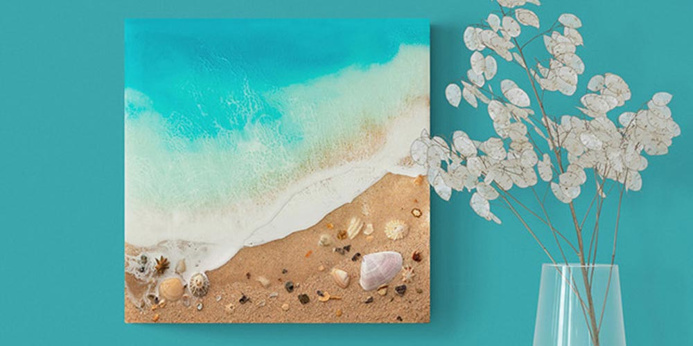 Beautiful Ocean Resin Art by Michelle Tracey